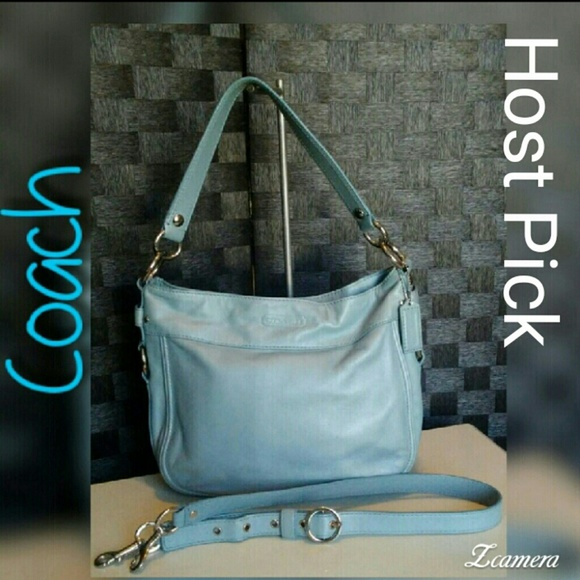 Coach Handbags - Coach Carly Hobo Light blue 42777b9f22c46